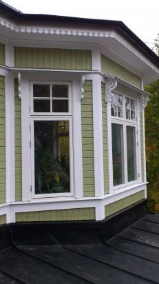Dekorationer på plats i Älvsjö
